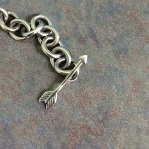 Tiffany & Co. Jewelry - Tiffany and Co. Open heart & arrow toggle bracelet